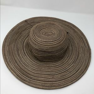 Target Wide Brim Sun Beach Hat Brown Tan Woven